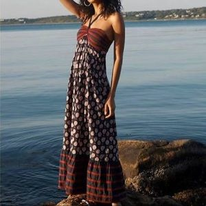 Anthropologie Zosime Boho Halter Maxi Dress NEW 8